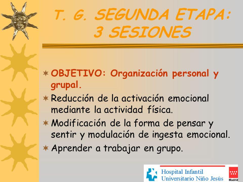 T. G. SEGUNDA ETAPA: 3 SESIONES