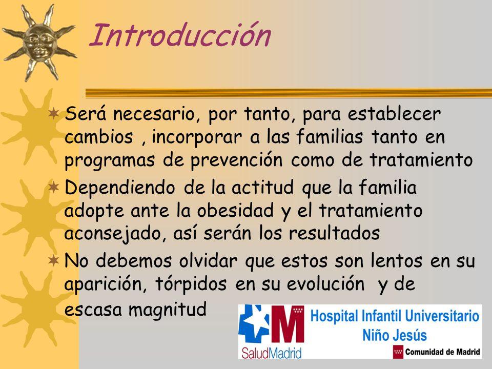 Introducción Será necesario, por tanto, para establecer cambios , incorporar a las familias tanto en programas de prevención como de tratamiento.