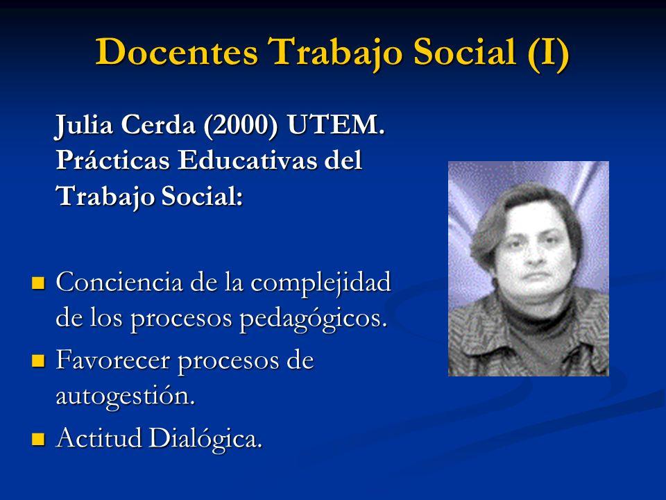 Docentes Trabajo Social (I)