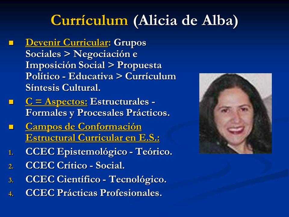 Currículum (Alicia de Alba)