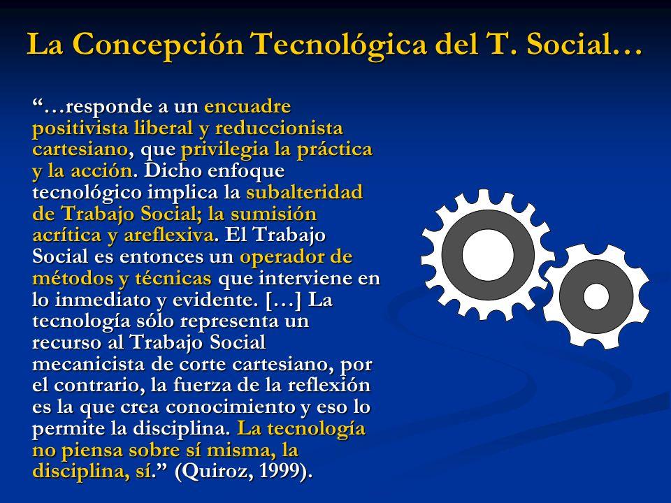 La Concepción Tecnológica del T. Social…