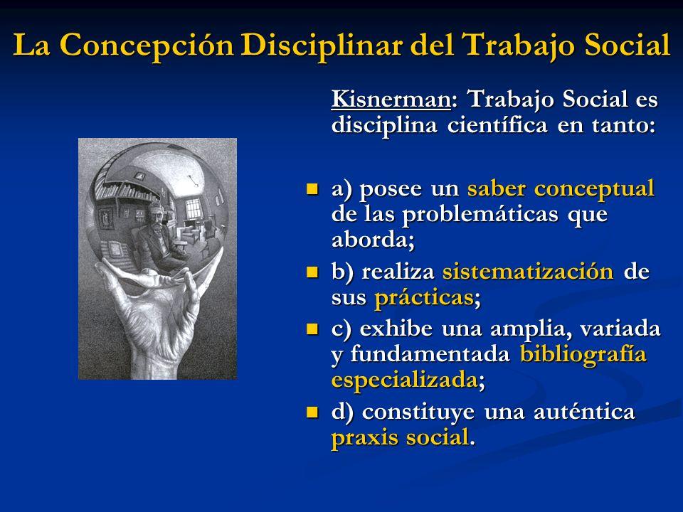 La Concepción Disciplinar del Trabajo Social
