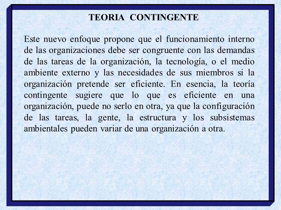 TEORIA CONTINGENTE