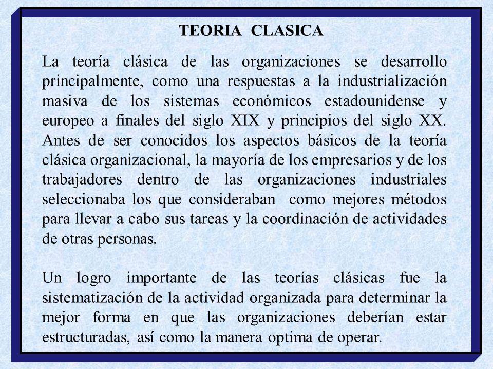 TEORIA CLASICA
