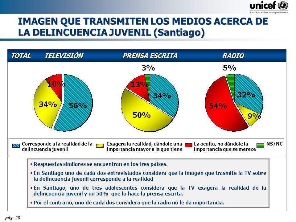 IMAGEN QUE TRANSMITEN LOS MEDIOS ACERCA DE LA DELINCUENCIA JUVENIL (Santiago)