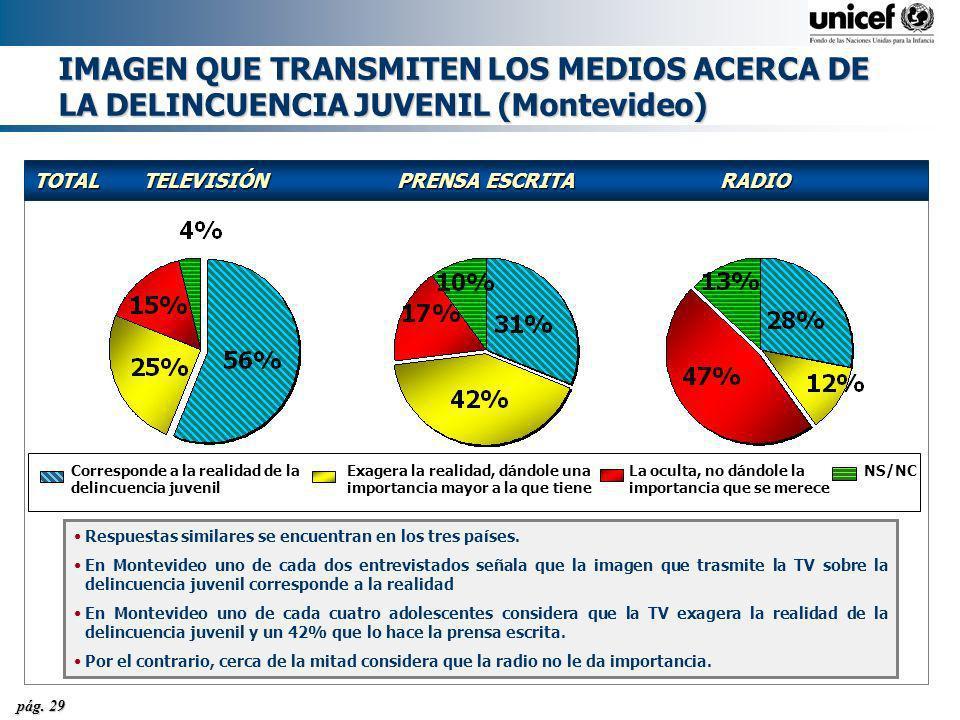 IMAGEN QUE TRANSMITEN LOS MEDIOS ACERCA DE LA DELINCUENCIA JUVENIL (Montevideo)