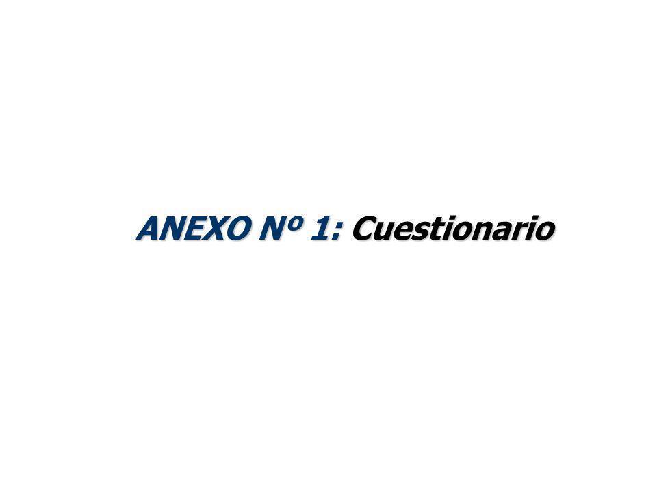 ANEXO Nº 1: Cuestionario