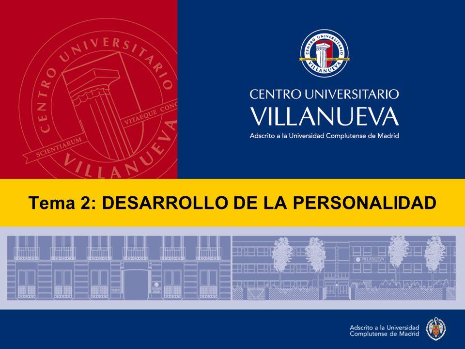 Tema 2: DESARROLLO DE LA PERSONALIDAD