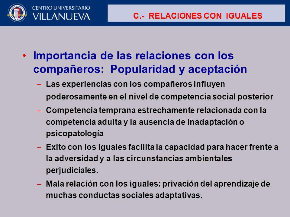 C.- RELACIONES CON IGUALES
