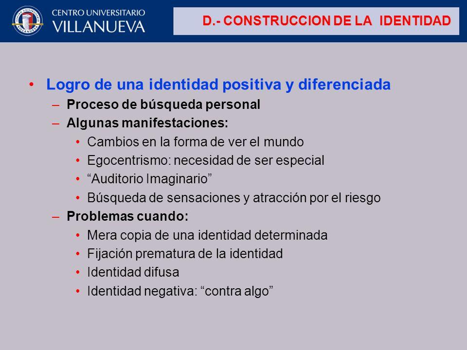 D.- CONSTRUCCION DE LA IDENTIDAD