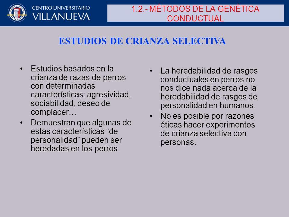 1.2.- MÉTODOS DE LA GENÉTICA CONDUCTUAL
