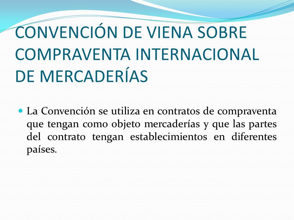 CONVENCIÓN DE VIENA SOBRE COMPRAVENTA INTERNACIONAL DE MERCADERÍAS