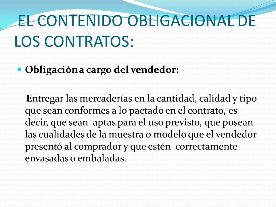EL CONTENIDO OBLIGACIONAL DE LOS CONTRATOS: