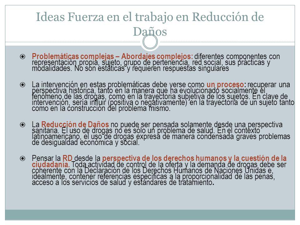 Ideas Fuerza en el trabajo en Reducción de Daños