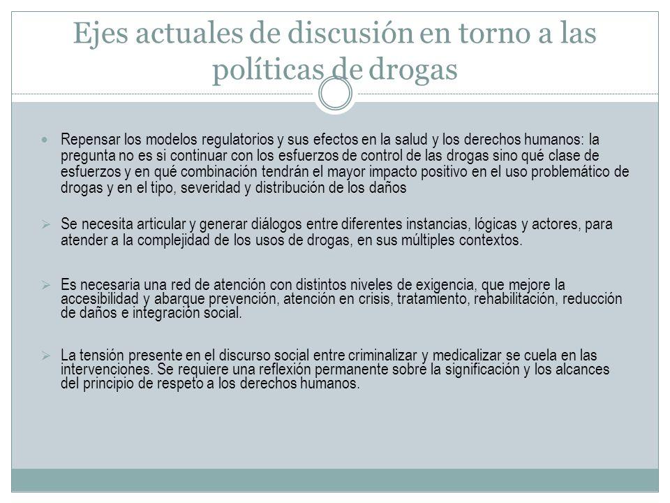 Ejes actuales de discusión en torno a las políticas de drogas