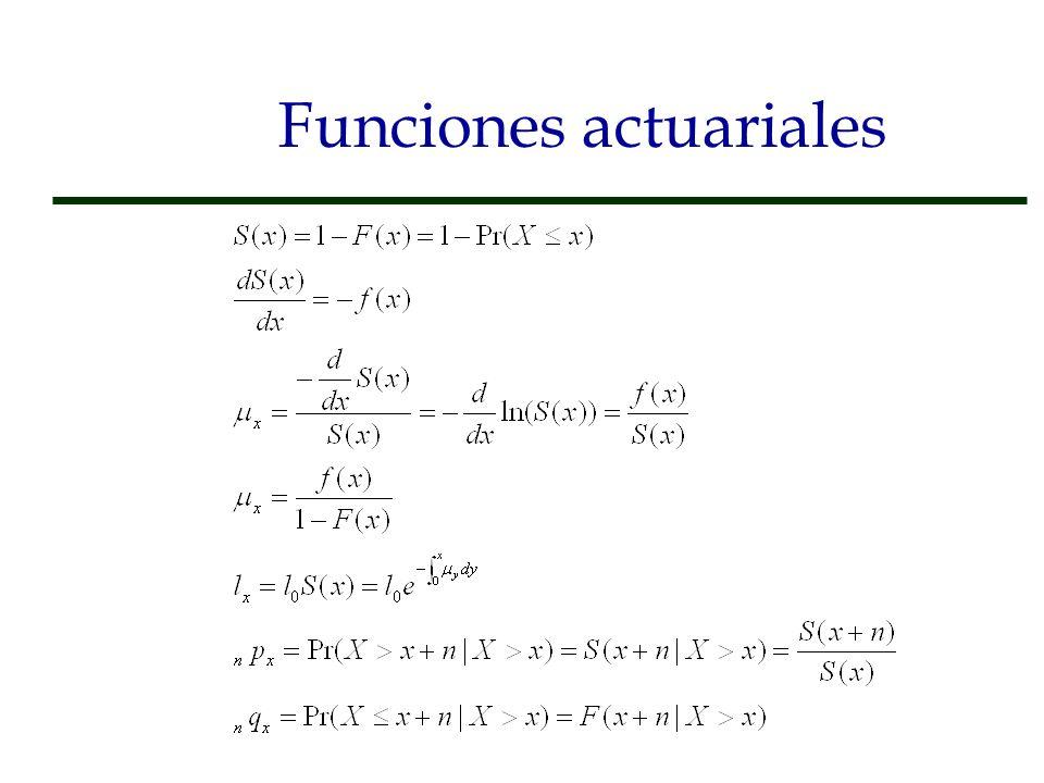 Funciones actuariales