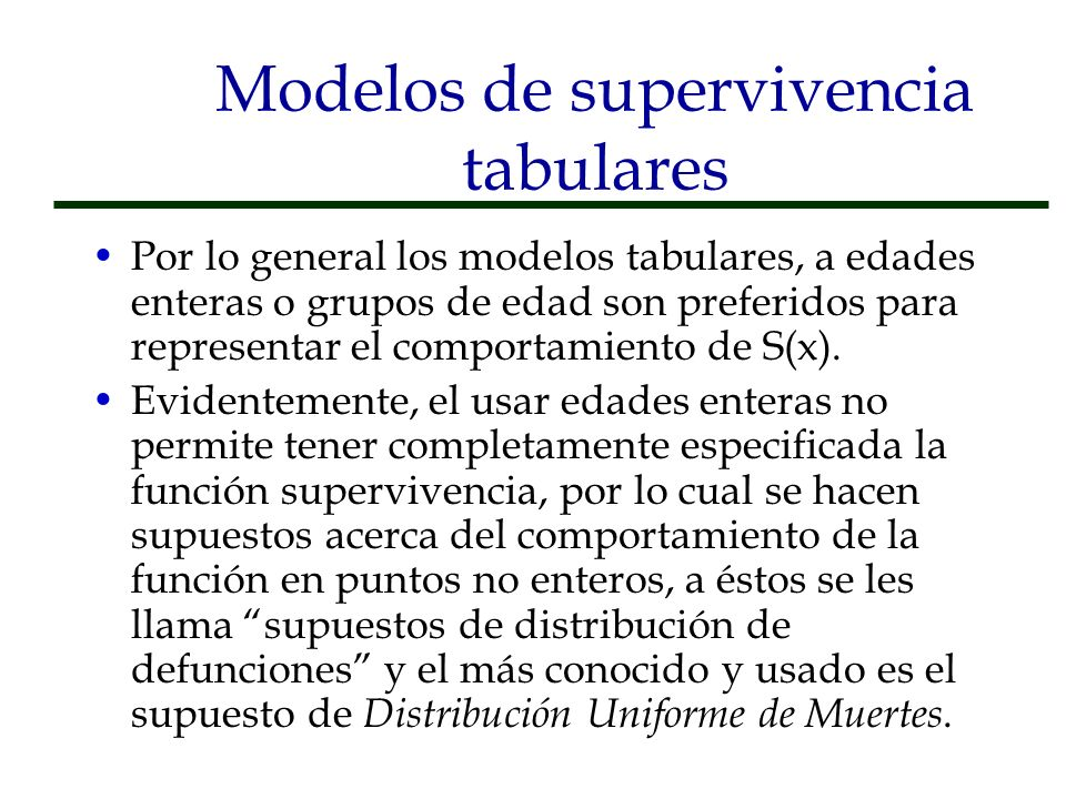 Modelos de supervivencia tabulares