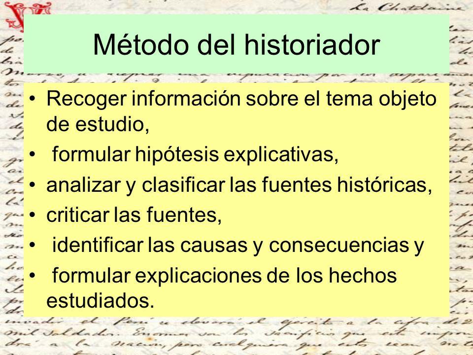 Método del historiador