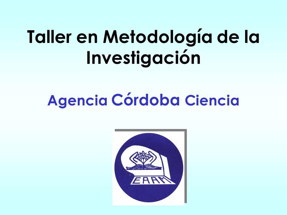 Taller en Metodología de la Investigación