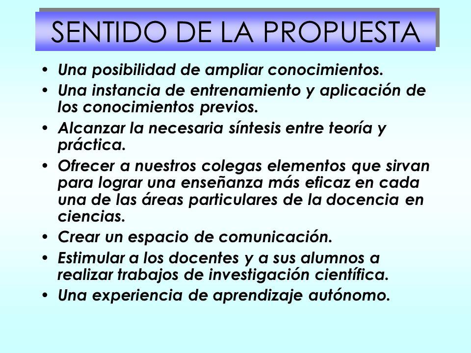 SENTIDO DE LA PROPUESTA