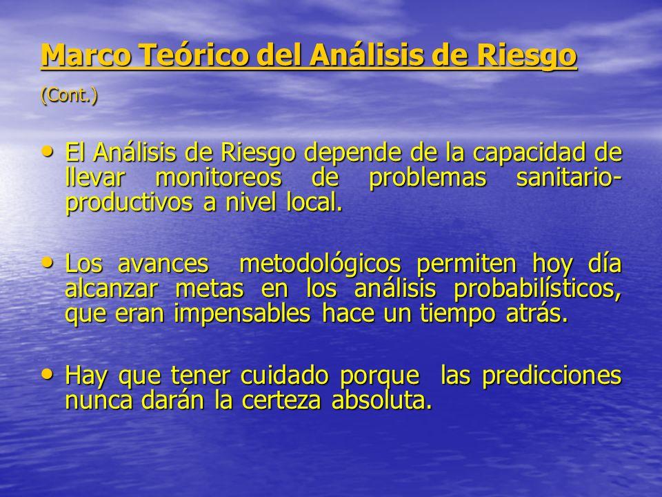 Marco Teórico del Análisis de Riesgo (Cont.)