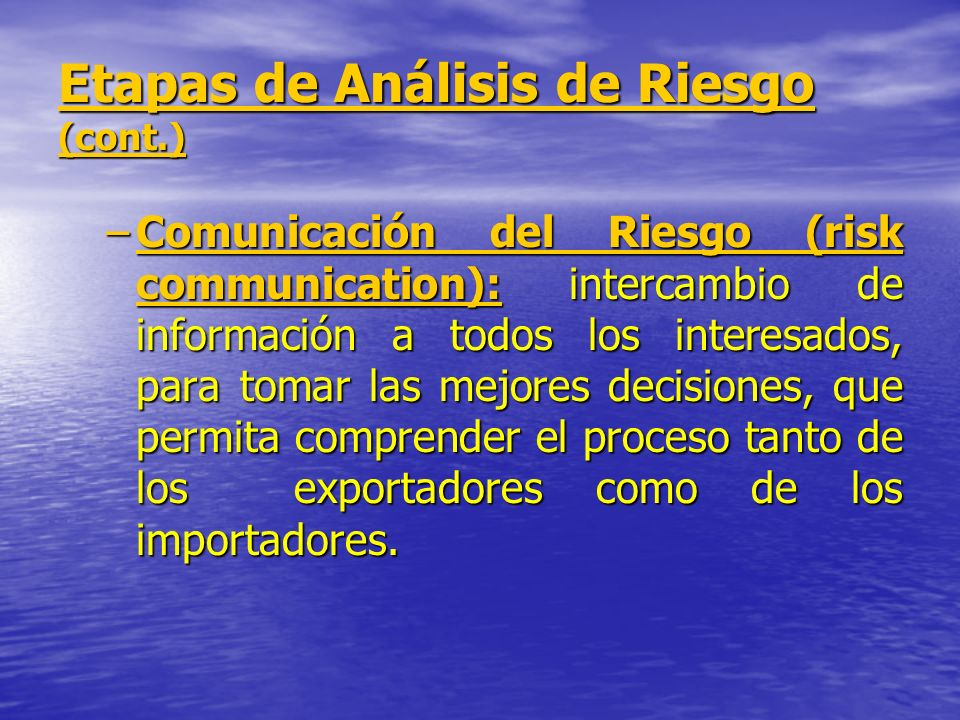 Etapas de Análisis de Riesgo (cont.)