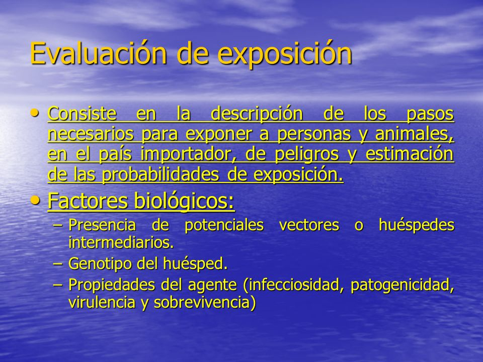 Evaluación de exposición