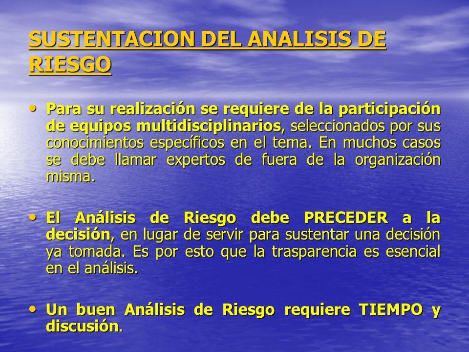 SUSTENTACION DEL ANALISIS DE RIESGO