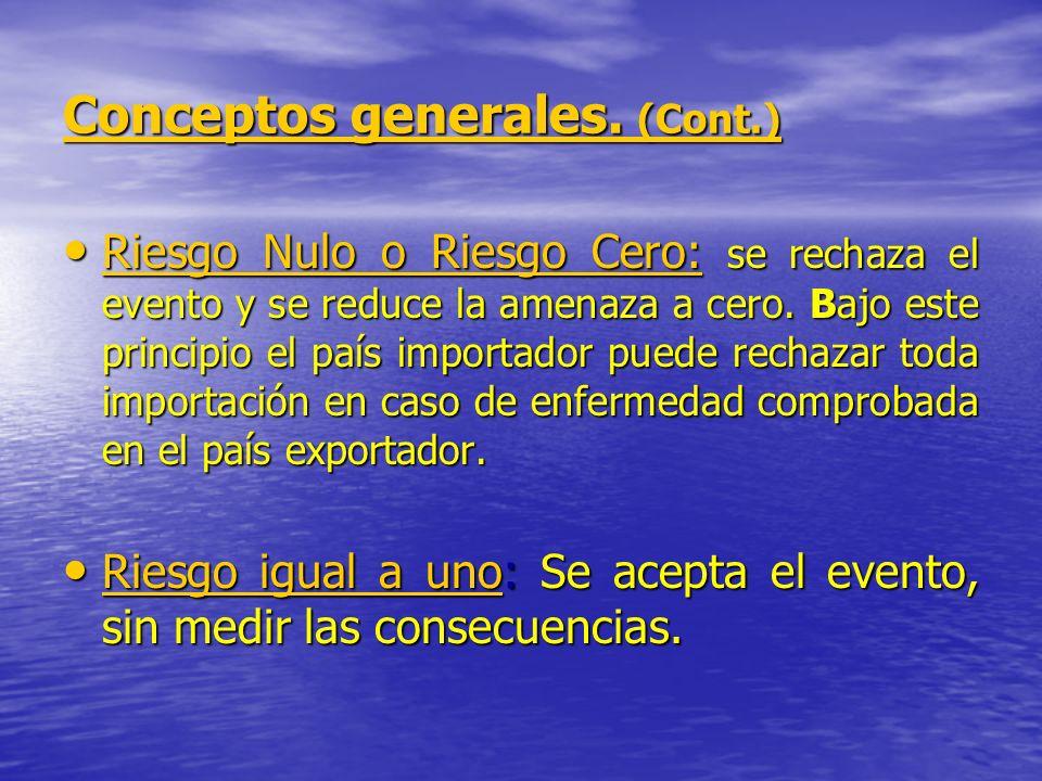 Conceptos generales. (Cont.)