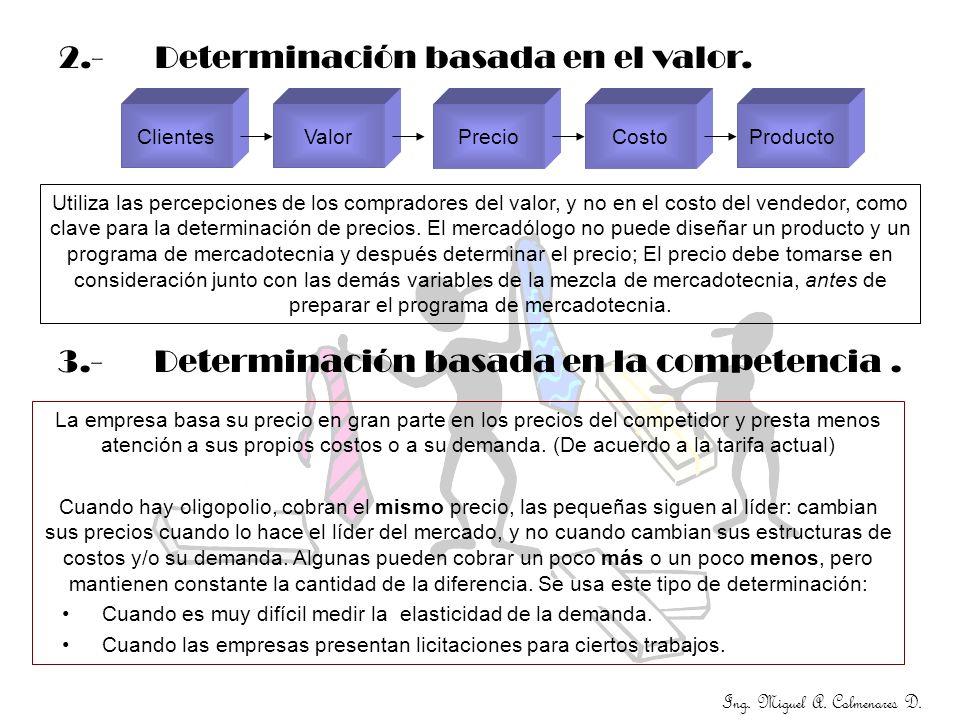 2.- Determinación basada en el valor.