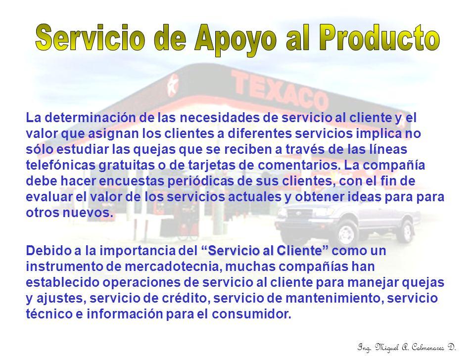 Servicio de Apoyo al Producto