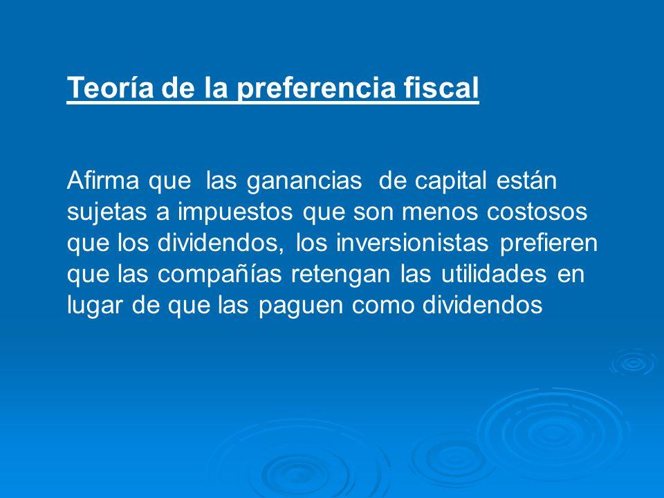 Teoría de la preferencia fiscal