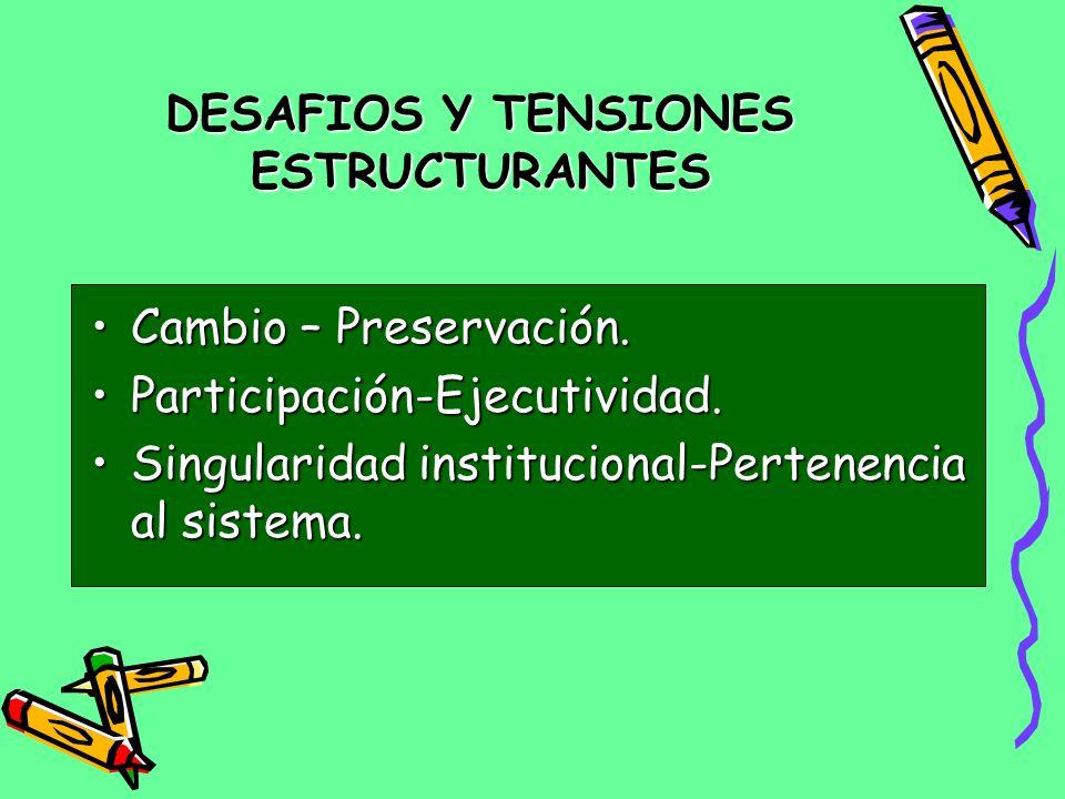 DESAFIOS Y TENSIONES ESTRUCTURANTES