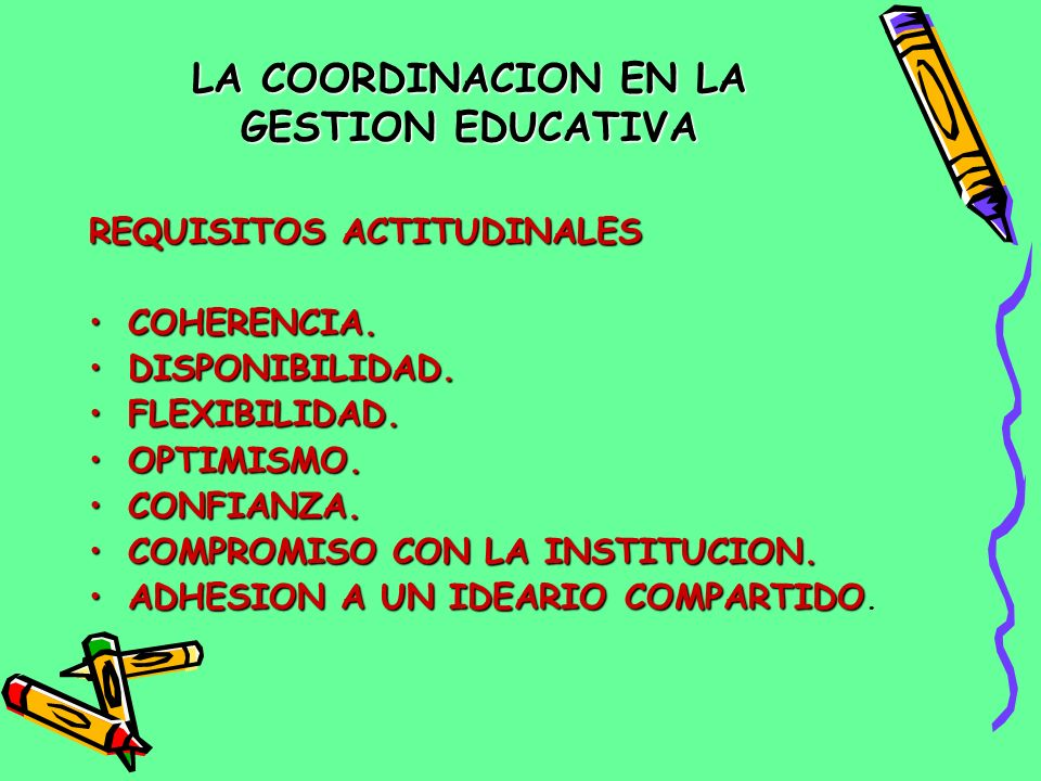 LA COORDINACION EN LA GESTION EDUCATIVA