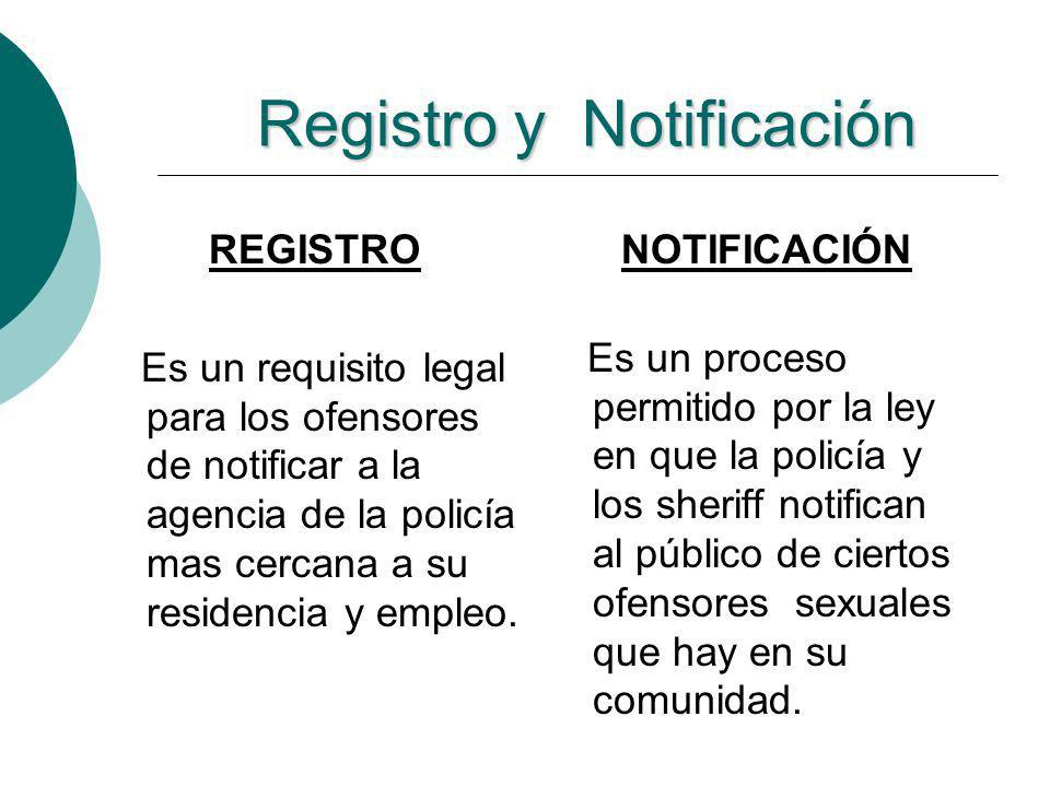 Registro y Notificación