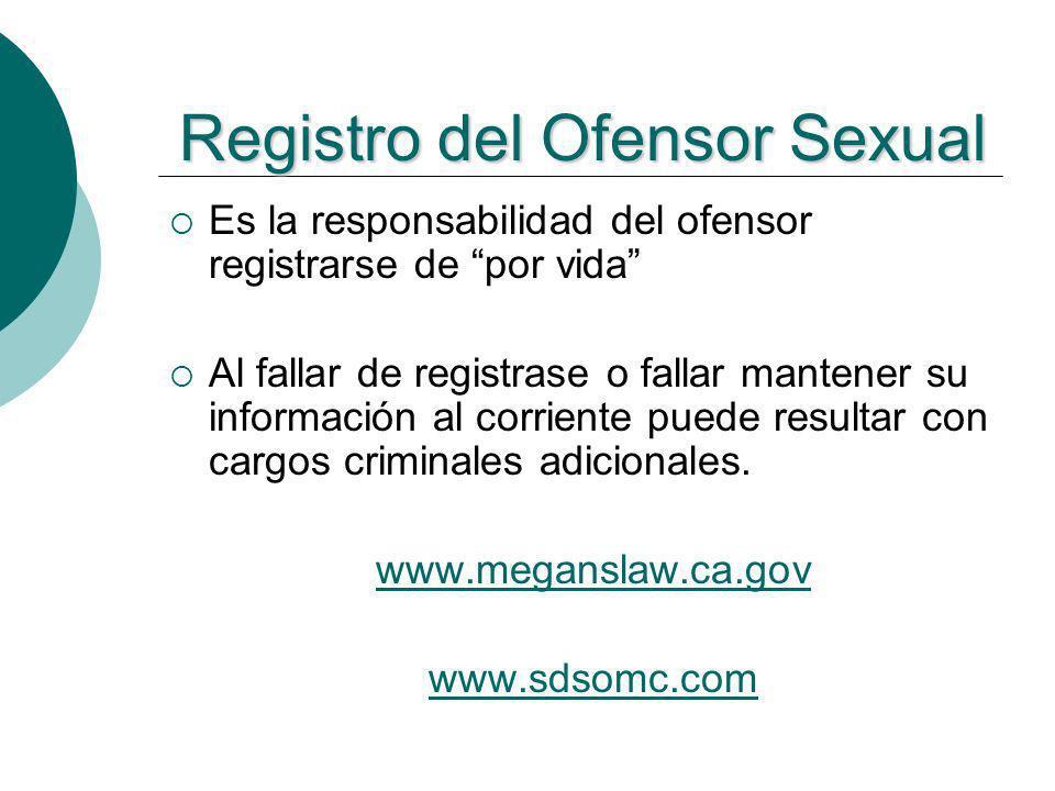 Registro del Ofensor Sexual