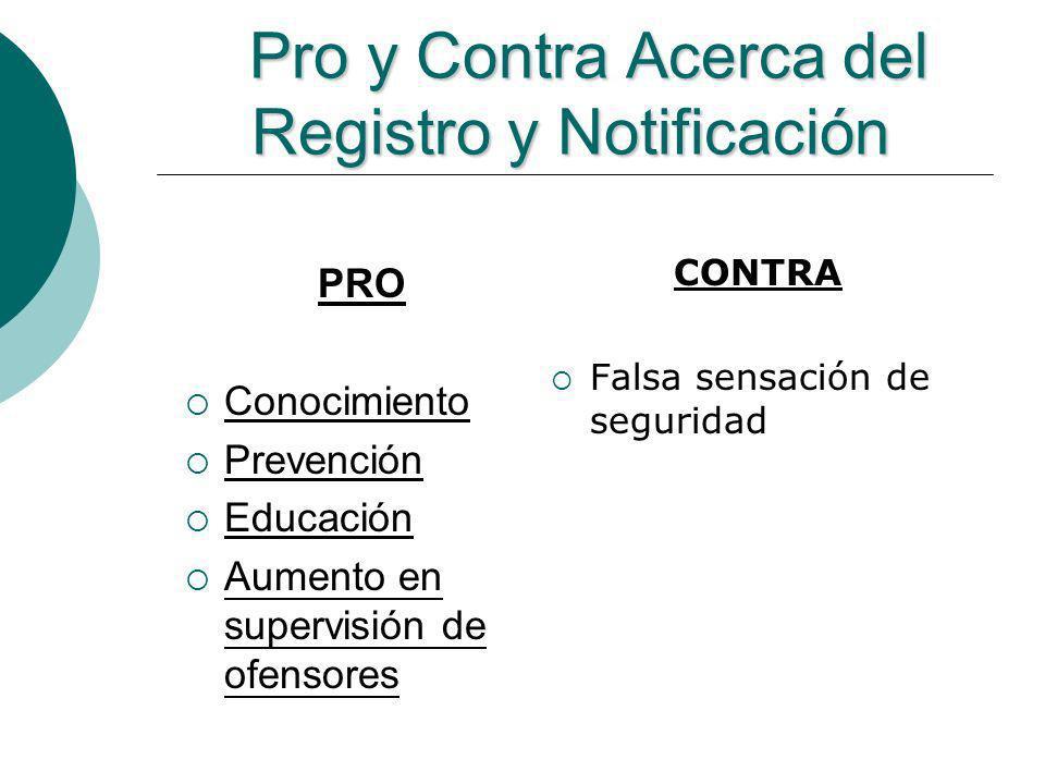 Pro y Contra Acerca del Registro y Notificación