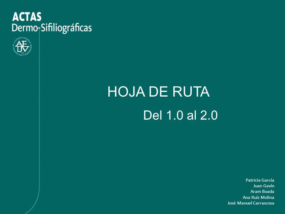 HOJA DE RUTA Del 1.0 al 2.0 Patricia García Juan Gavín Aram Boada