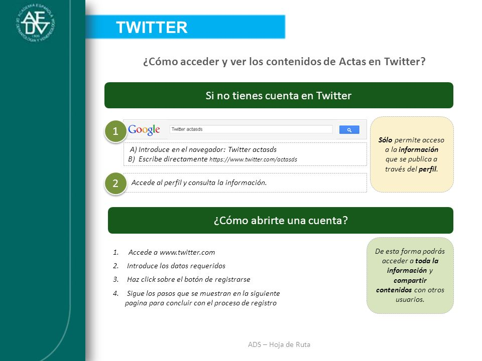 ¿Cómo acceder y ver los contenidos de Actas en Twitter