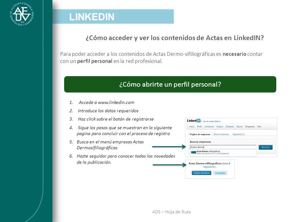 ¿Cómo acceder y ver los contenidos de Actas en LinkedIN