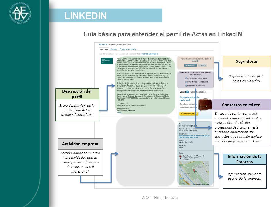 Descripción del perfil Información de la Empresa