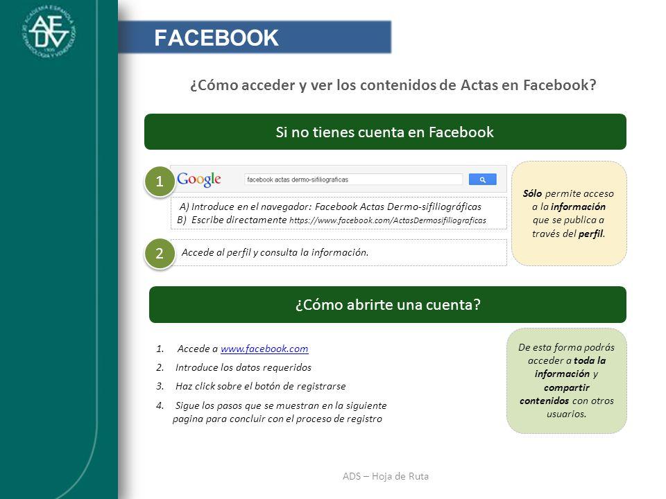 ¿Cómo acceder y ver los contenidos de Actas en Facebook