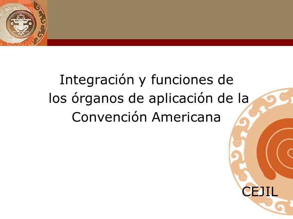 Integración y funciones de los órganos de aplicación de la