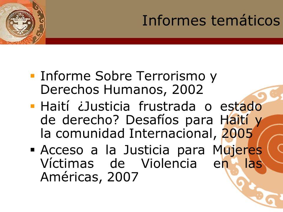 Informes temáticos Informe Sobre Terrorismo y Derechos Humanos, 2002