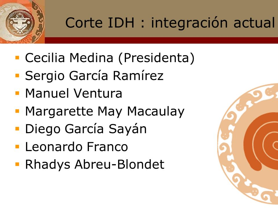 Corte IDH : integración actual
