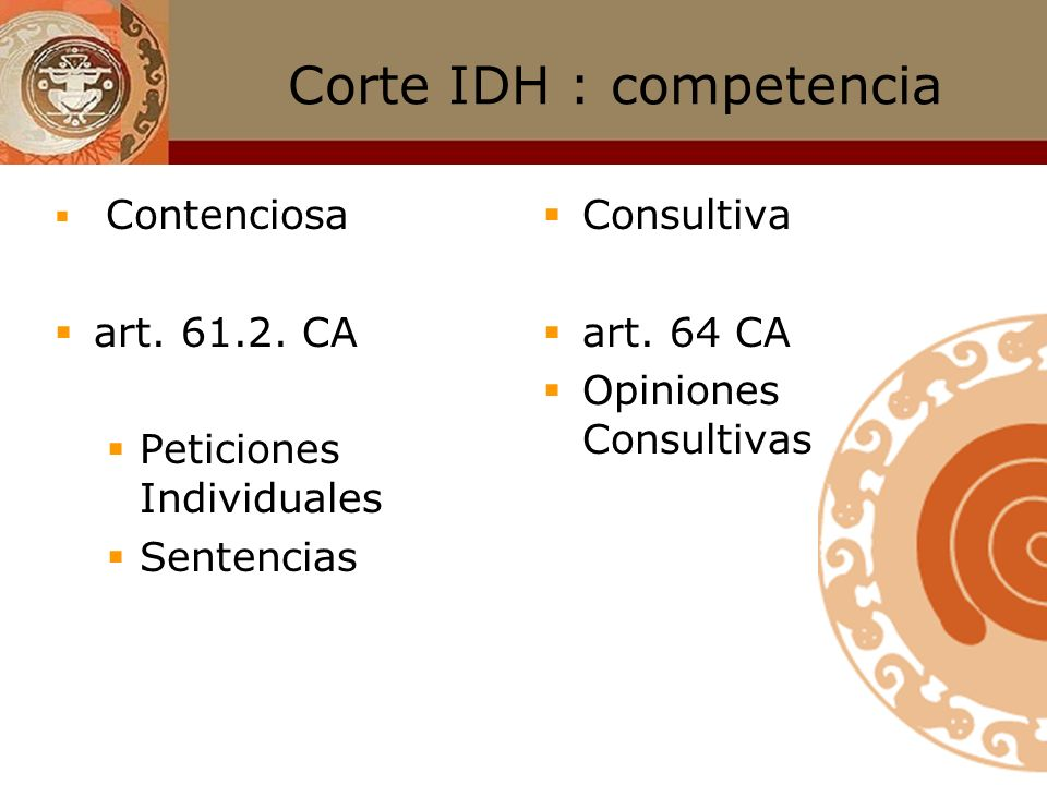 Corte IDH : competencia