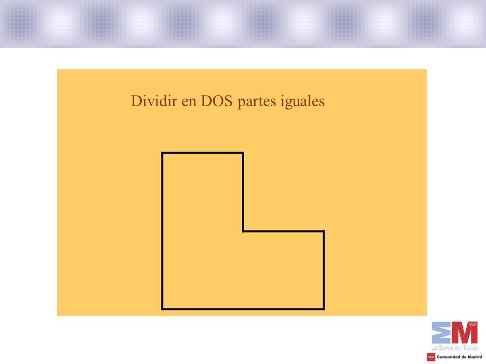 Dividir en DOS partes iguales