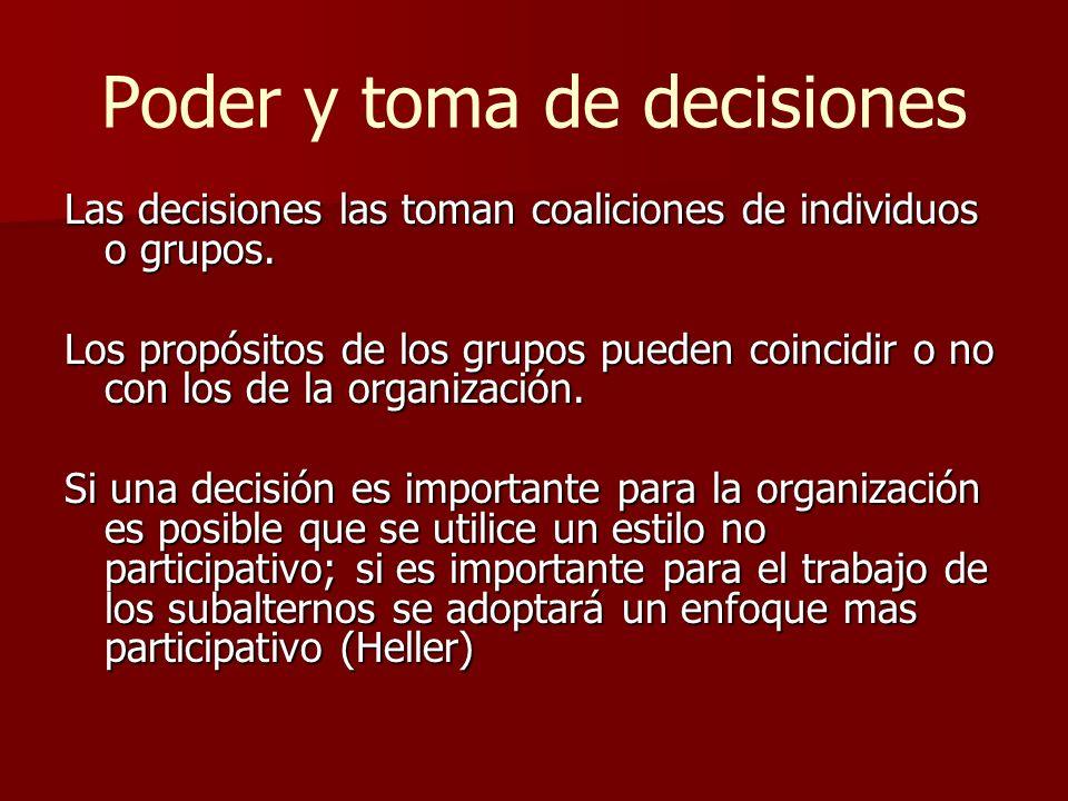 Poder y toma de decisiones