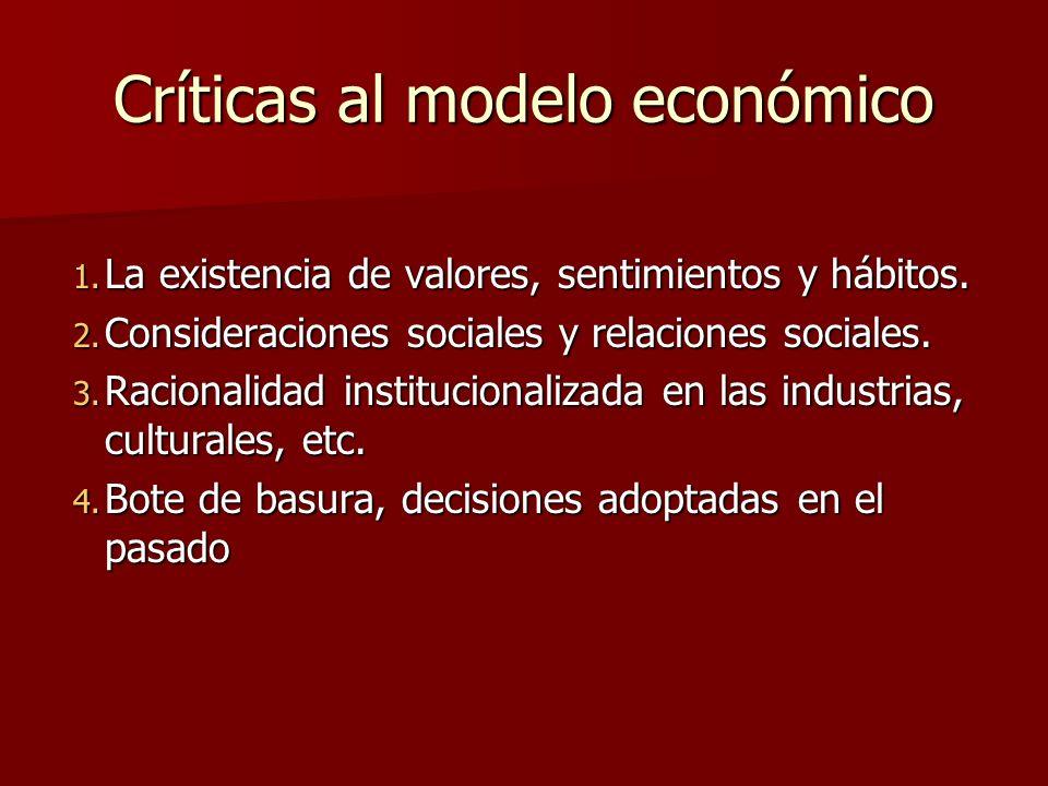 Críticas al modelo económico