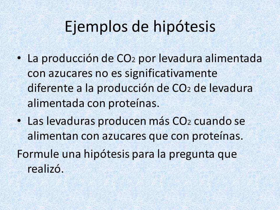 Ejemplos de hipótesis